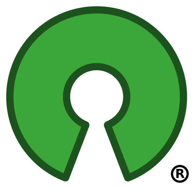 The open source logo to show that Linux is open source